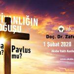 Doç. Dr. Zafer Duygu'nun Sunacağı Konferans 01 Şubatta, Davetlisiniz